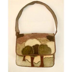RARE Char 70s Vintage Boho Leather Satchel EUC